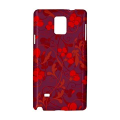 Red floral pattern Samsung Galaxy Note 4 Hardshell Case