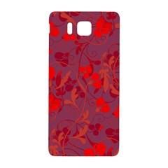 Red floral pattern Samsung Galaxy Alpha Hardshell Back Case