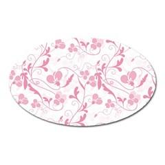 Floral pattern Oval Magnet