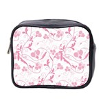 Floral pattern Mini Toiletries Bag 2-Side Front