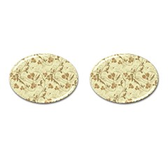 Floral pattern Cufflinks (Oval)
