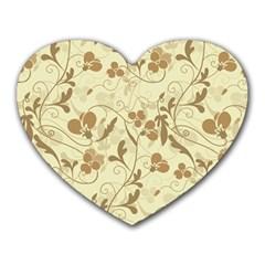 Floral pattern Heart Mousepads