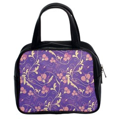 Floral pattern Classic Handbags (2 Sides)