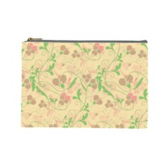 Floral pattern Cosmetic Bag (Large)