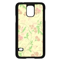 Floral pattern Samsung Galaxy S5 Case (Black)