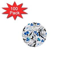 Floral pattern 1  Mini Buttons (100 pack)