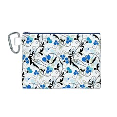 Floral pattern Canvas Cosmetic Bag (M)