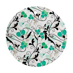Floral pattern Round Ornament (Two Sides)