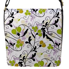 Floral pattern Flap Messenger Bag (S)