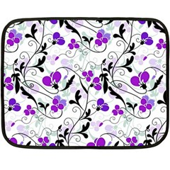 Floral Pattern Double Sided Fleece Blanket (mini)