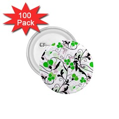 Floral pattern 1.75  Buttons (100 pack)