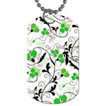 Floral pattern Dog Tag (Two Sides) Front