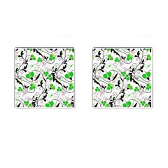 Floral pattern Cufflinks (Square)