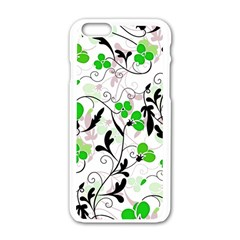 Floral pattern Apple iPhone 6/6S White Enamel Case