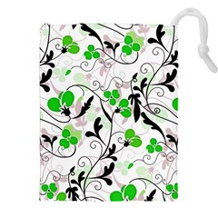 Floral pattern Drawstring Pouches (XXL)