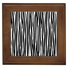Zebra pattern Framed Tiles