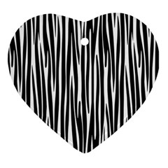 Zebra pattern Ornament (Heart)