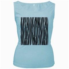 Zebra pattern Women s Baby Blue Tank Top