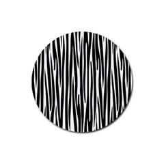 Zebra pattern Rubber Coaster (Round)