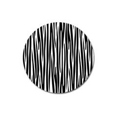 Zebra pattern Magnet 3  (Round)
