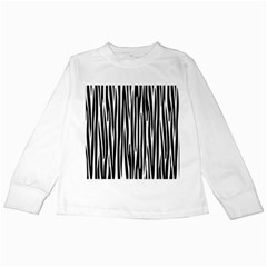 Zebra pattern Kids Long Sleeve T-Shirts