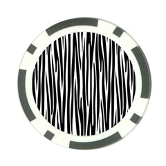Zebra pattern Poker Chip Card Guard