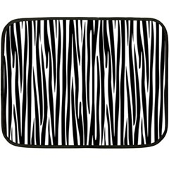 Zebra pattern Fleece Blanket (Mini)