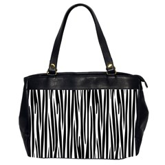 Zebra pattern Office Handbags (2 Sides)