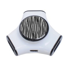 Zebra pattern 3-Port USB Hub