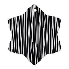 Zebra pattern Snowflake Ornament (Two Sides)