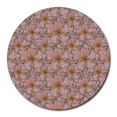 Nature Collage Print Round Mousepads