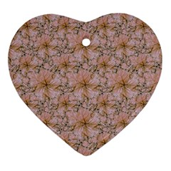 Nature Collage Print Ornament (Heart)