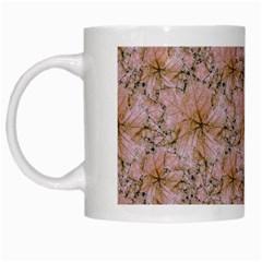 Nature Collage Print White Mugs