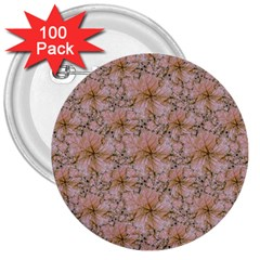 Nature Collage Print 3  Buttons (100 pack)