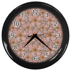 Nature Collage Print Wall Clocks (Black)