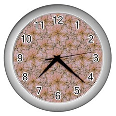 Nature Collage Print Wall Clocks (Silver)