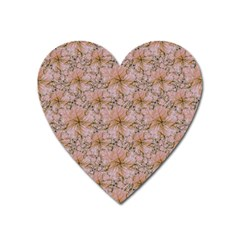 Nature Collage Print Heart Magnet