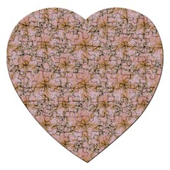 Nature Collage Print Jigsaw Puzzle (Heart)