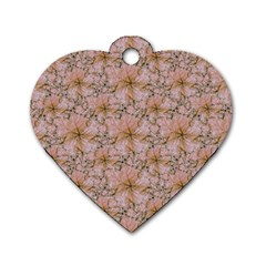 Nature Collage Print Dog Tag Heart (One Side)
