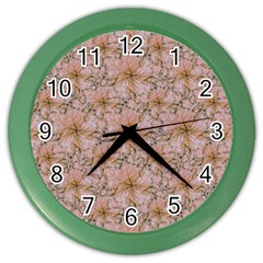 Nature Collage Print Color Wall Clocks