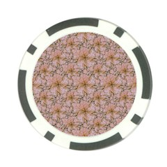 Nature Collage Print Poker Chip Card Guard