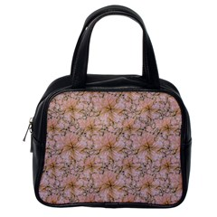 Nature Collage Print Classic Handbags (One Side)