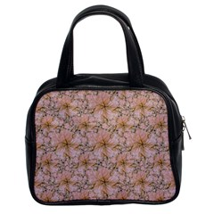 Nature Collage Print Classic Handbags (2 Sides)