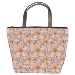 Nature Collage Print Bucket Bags