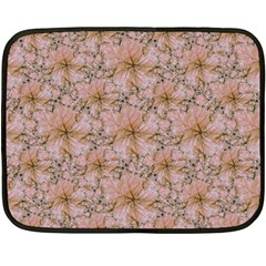Nature Collage Print Double Sided Fleece Blanket (Mini)