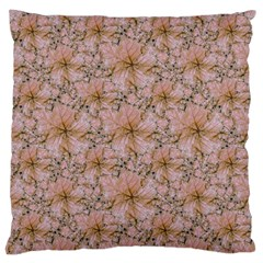 Nature Collage Print Large Cushion Case (One Side)