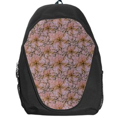 Nature Collage Print Backpack Bag