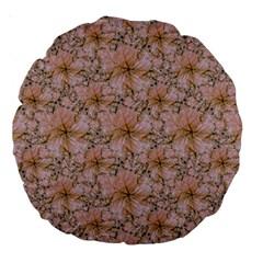 Nature Collage Print Large 18  Premium Round Cushions