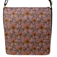 Nature Collage Print Flap Messenger Bag (S)