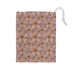 Nature Collage Print Drawstring Pouches (Large)